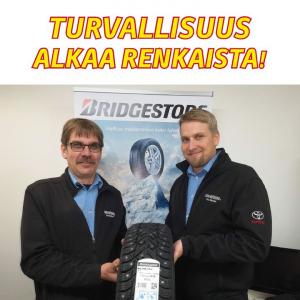 Laadukkaat renkaat ovat tärkein yksittäinen tekijä liukkaiden kelien ajoturvallisuudessa. Kuopion Autokauppa on alueen suurin Br...