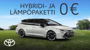 Kun matka on yhtä tärkeä kuin määränpää. Hyödynnä Corollan kuuma kesäkampanja, nyt Hybridi- ja Lämpöpaketit 0 €, kokonaisetusi 3...