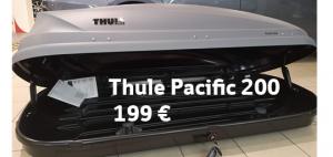 Eikö autosi kuljetuskapasiteetti meinaa riittää? Hae meiltä esittelykäytössä ollut Thule Pacific 200 kuljetusboksi SUPERALEHINTAAN 199 €! Huom, vain 1 kpl tällä hinnalla! Boksin tarkemmat tiedot ja muut varustetarjoukset: https://www.kuopionautokauppa.fi/yritys/ajankohtaista/thule-suksiboksi-tarjoushintaan.html